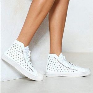 Nasty Gal Leave Your Mark Studded Sneaker